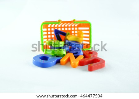 Colorful toy placed on a white background.