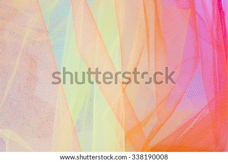 Colorful Tulle Fabric Background - stock photo