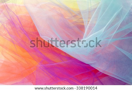 Colorful Tulle Fabric Background