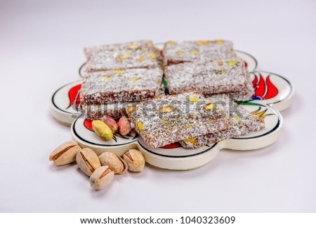 Download Turkey Eid Al-Fitr Food - stock-photo-colorful-turkish-delight-lokum-with-nuts-on-plate-a-traditional-eid-al-fitr-sweet-1040323609  Pictures_8497 .jpg