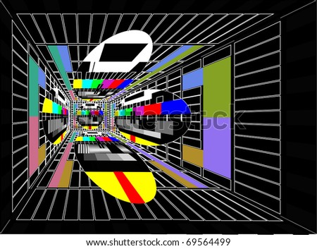 colorful tv background - stock photo