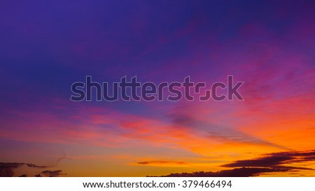 Colorful twilight background