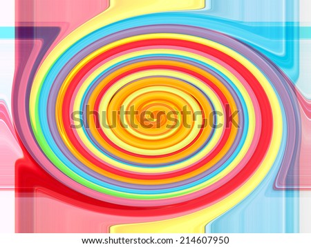 Colorful twirling strip abstract background