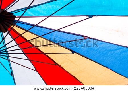 colorful umbrella - stock photo
