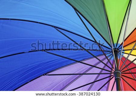 Colorful umbrella background - stock photo
