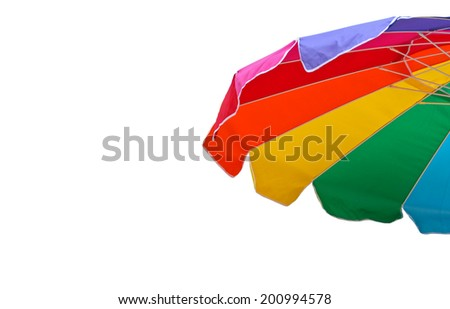 Colorful umbrella on white background
