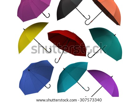 colorful umbrellas - stock photo