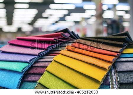 Colorful Upholstery Fabric Samples