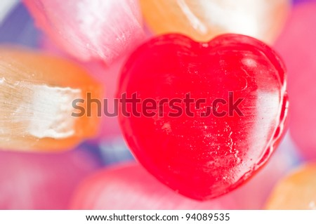 Colorful Valentines Heart Candy
