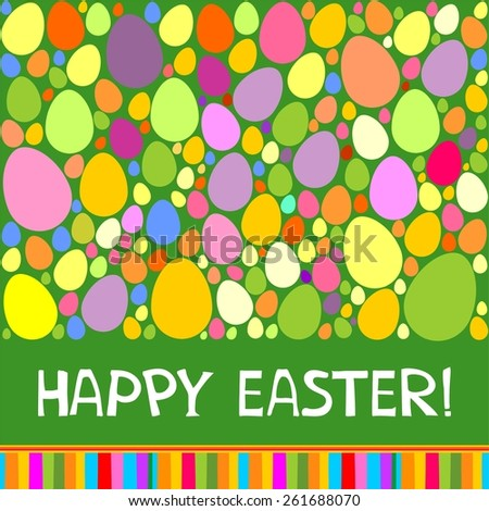 Colorful vector easter card.  Illustration