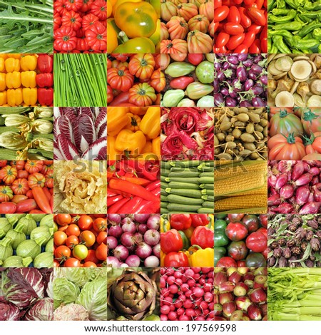 colorful vegetable background - stock photo