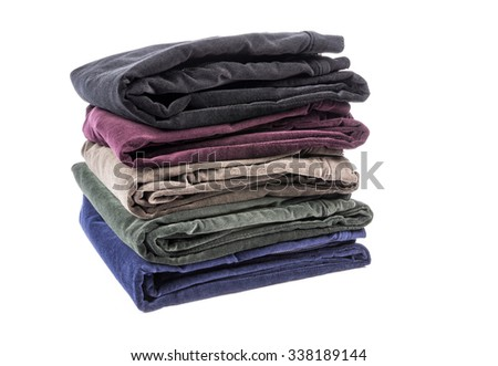 Colorful Velvet Pants Isolated on White