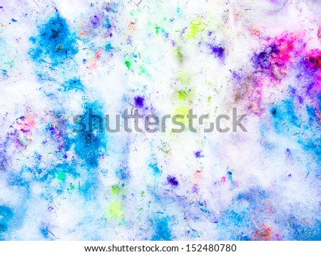 Colorful vintage background on snow - stock photo