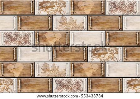Colorful vintage ceramic tiles wall decoration Digital tiles design. Colorful Vintage Ceramic Tiles Wall Decorationdigital Stock