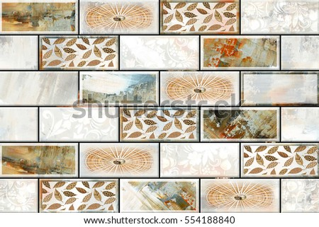 Colorful vintage ceramic tiles wall decoration Digital tiles design. Tile Wall Stock Images  Royalty Free Images   Vectors   Shutterstock