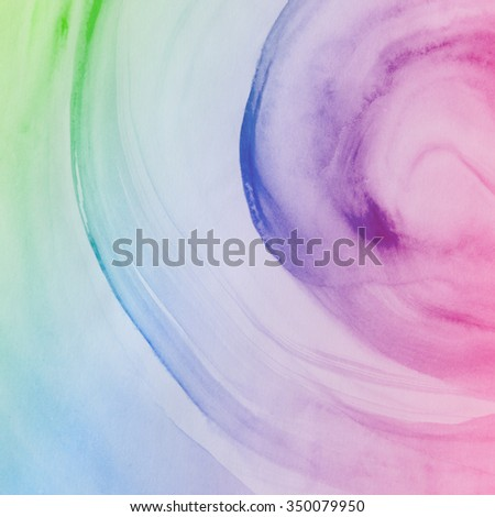 Colorful Water Color Background, Abstract art hand paint - stock photo
