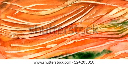 Colorful water color pouring on a paper - stock photo
