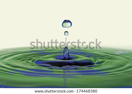 Colorful water drop  - stock photo