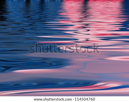 Colorful water reflection pattern for backgrounds and fills - stock photo