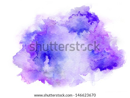 Colorful watercolor drawing for use in artistic background