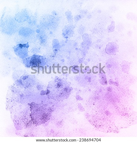 Colorful watercolor drops texture. Drawing spots handmade technique. Hand painting backdrop. - stock photo