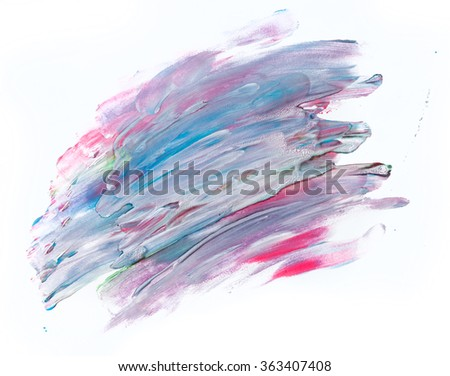 Colorful watercolor paint on white canvas. Abstract background. Super high resolution and quality. Perfect for brush, design, template etc.