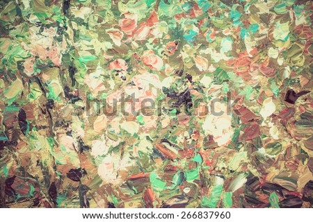 Colorful watercolor painting abstract flower texture, can be use as background or wallpaper in vintage color - stock photo