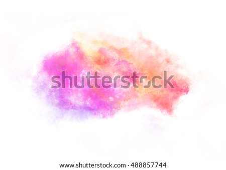 Colorful watercolor splash, abstract background for textures