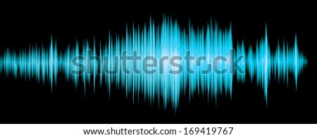 colorful waveform blue