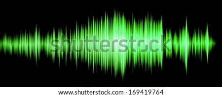 colorful waveform green - stock photo