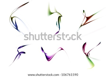 colorful Waves abstract background - stock photo