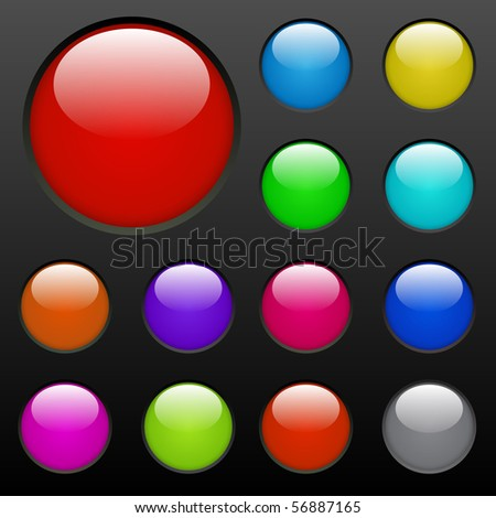 Colorful Web Buttons - stock photo