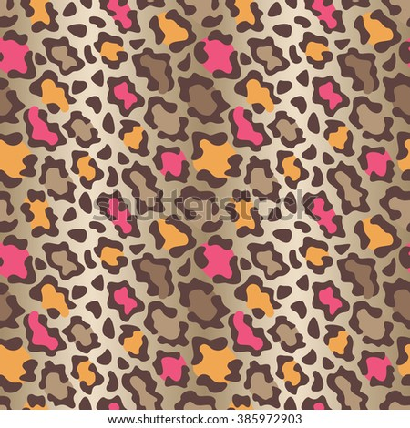 Colorful wildcat spots pattern repeats seamlessly. This is a four-tile repeat.