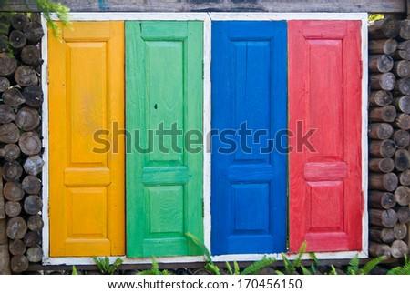 Colorful window - stock photo