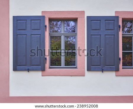 colorful window in Altenburg, Thuringen, Germany - stock photo