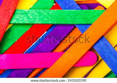 colorful wood ice cream stick