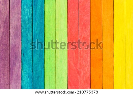Colorful Wood plank texture background - stock photo