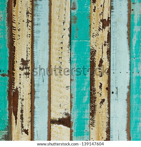 Colorful wood planks background - stock photo