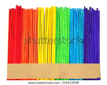 Colorful Wood Stick for Background
