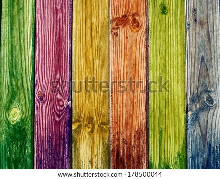Colorful wood texture - stock photo