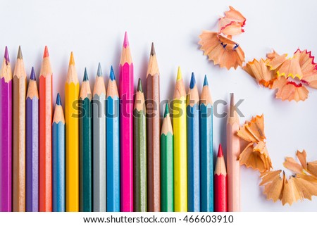 Colorful wooden crayon