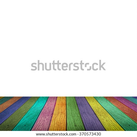 Colorful wooden under blank space for put your text or products. - stock photo