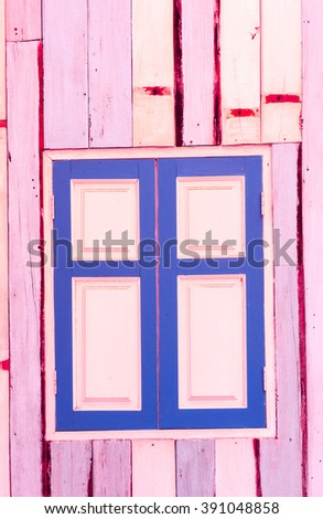 Colorful wooden window and panel. - stock photo