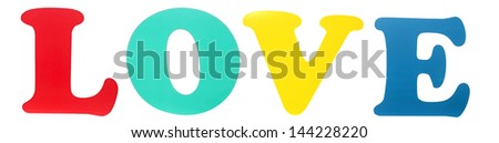 Colorful word ''Love'' - stock photo