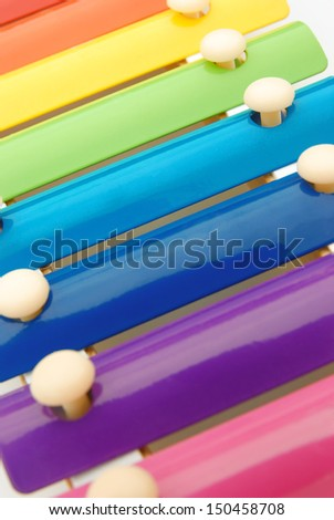 colorful xylophone close up - stock photo