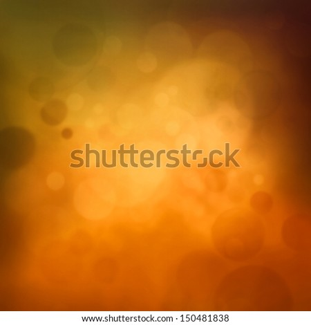Colorful yellow autumn bokeh background. Fall abstract  background with season pastel colors. - stock photo