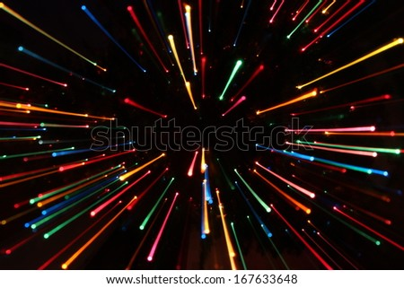 Colorful Zooming Lines - stock photo