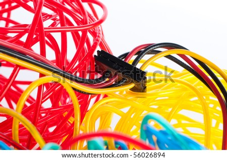Colorfull cables - stock photo