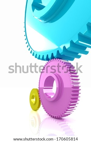 Colorfull gears.The CMYK concept - stock photo