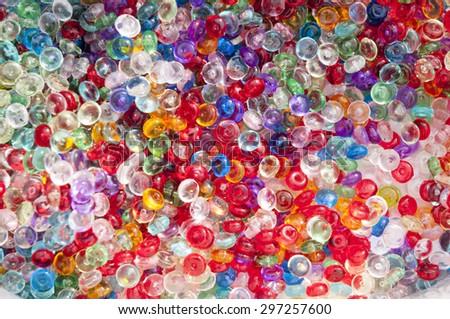 Colorfull glass balls mix - stock photo